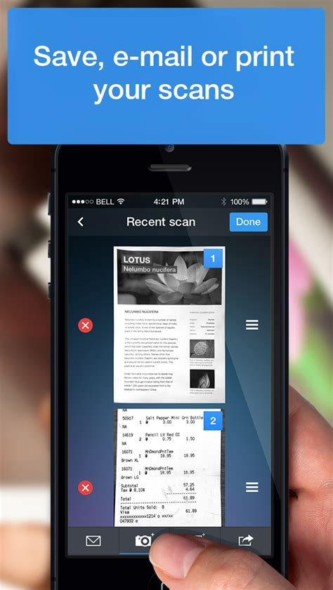 Scanner Pro - iPhone - English - Evernote App Center