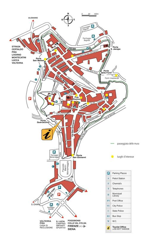 Large San Gimignano Maps for Free Download | High