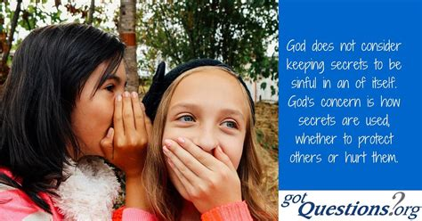 What does the Bible say about keeping secrets