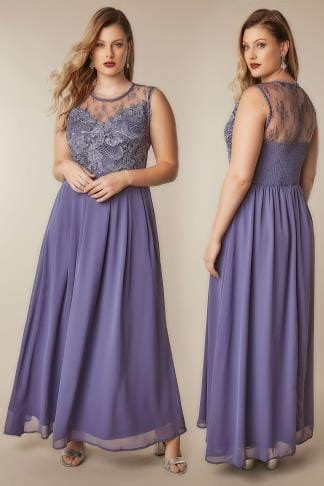 AX PARIS CURVE Blush Pink Maxi Dress With Lace Overlay