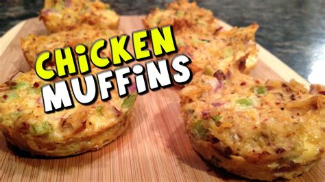Chicken Muffins Recipe (Low Carb/High Protein) - YouTube