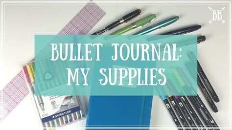 My Bullet Journal Supplies - YouTube