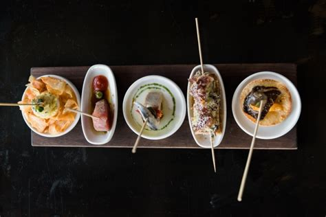 A selection of pintxos from Telefèric Barcelona