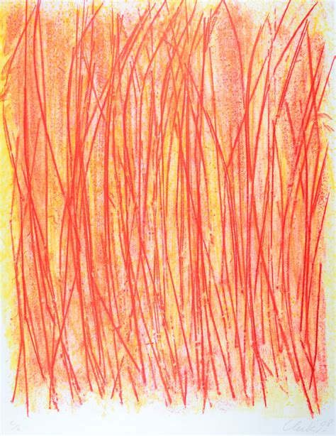 Günther Uecker Steppenbrand Print Lithograph For Sale I