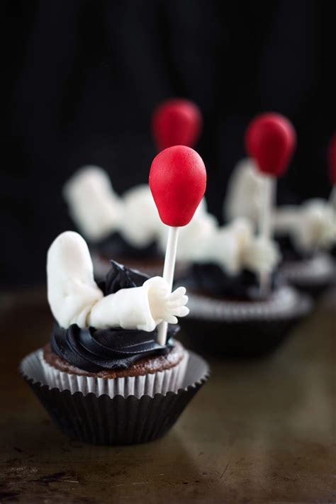 Creepy Clown Cupcakes Inspired by the IT Movie   A Magical