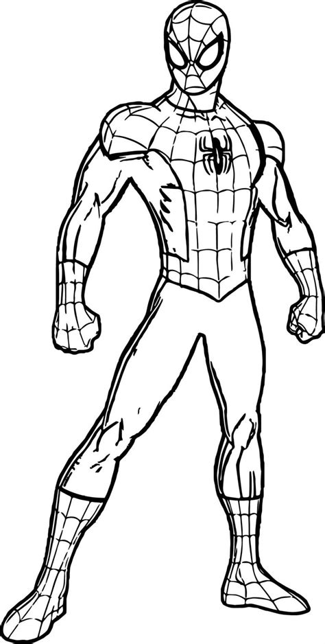 Spiderman Suit Coloring Page | Free coloring pages
