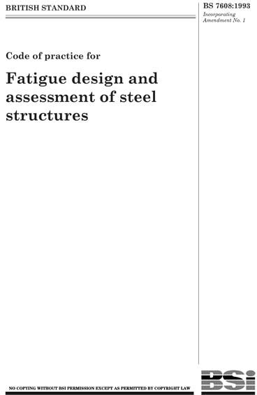 BS 7608:1993 - Code of practice for fatigue design and
