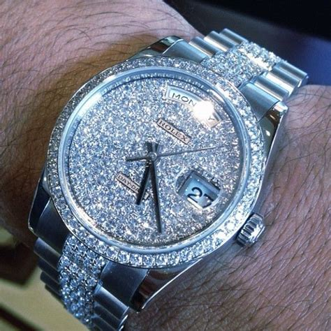 #Platinum #Rolex #Presidential Iced Out #ROLEX with the #