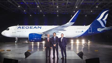 Aegean presents new livery, adds first Airbus A320neo