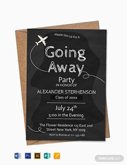 FREE Printable Going Away Party Invitation Template - Word