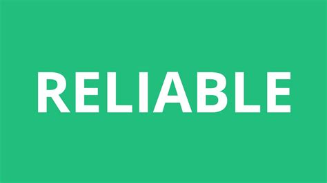 How To Pronounce Reliable - Pronunciation Academy - YouTube